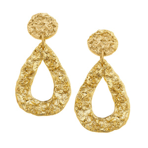 French Foil Belle Earrings
