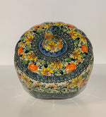 Load image into Gallery viewer, Large Polish Pottery Pumpkin Galia Sunflowers