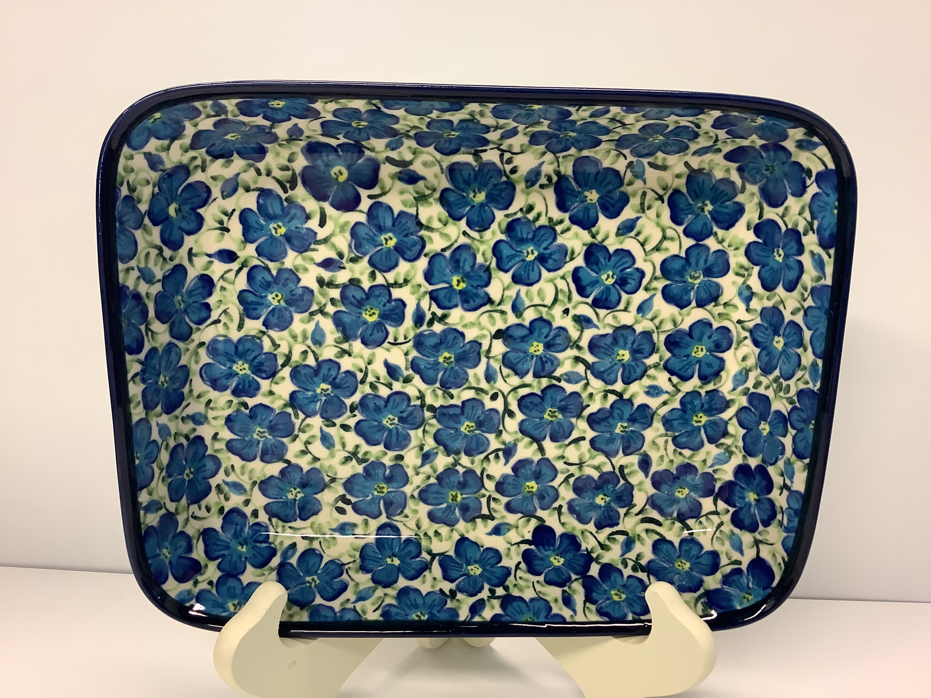 Rectangular Baker Blue Harmony Small