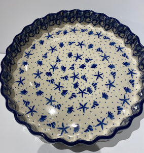 Fluted Quiche / Pie Dish Seashore