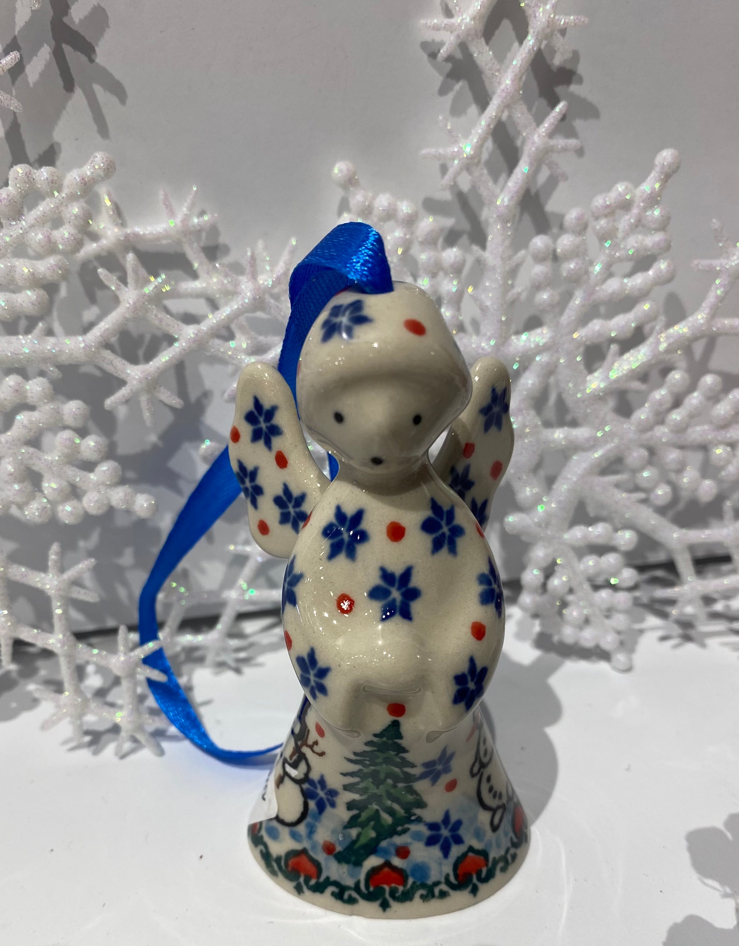 Angel Ornament Frolicking Snowmen