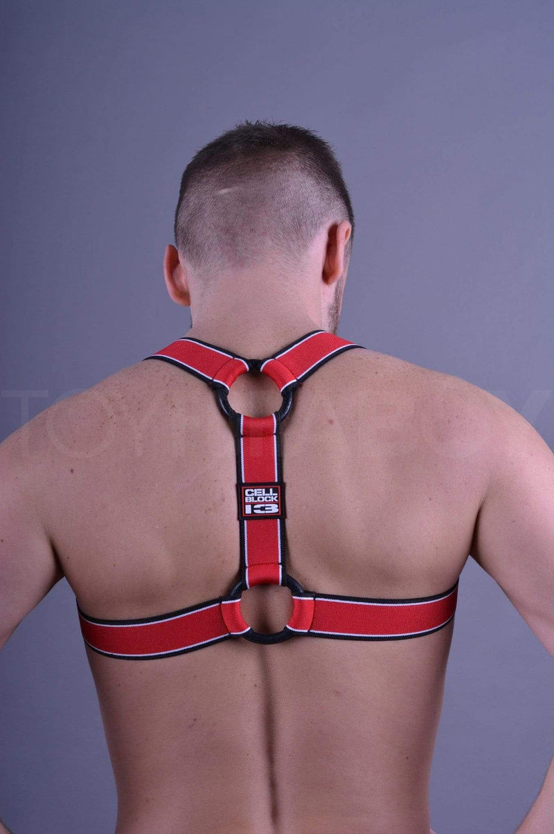 CellBlock 13 Kennel Club Scout Harness - Red - TOY FOR A BOY