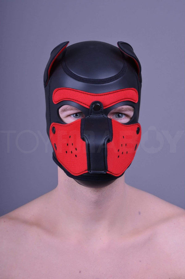 Neoprene Puppy Hood - Red - TOY FOR A BOY