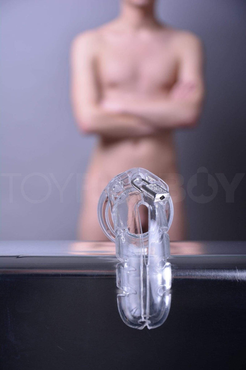 "ManCage 03 Chastity Cage - Clear 4.5"" - 115mm - TOY FOR A BOY"
