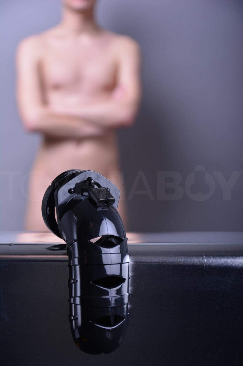 "ManCage 05 Chastity Cage - Black 5.5"" - 140mm - TOY FOR A BOY"