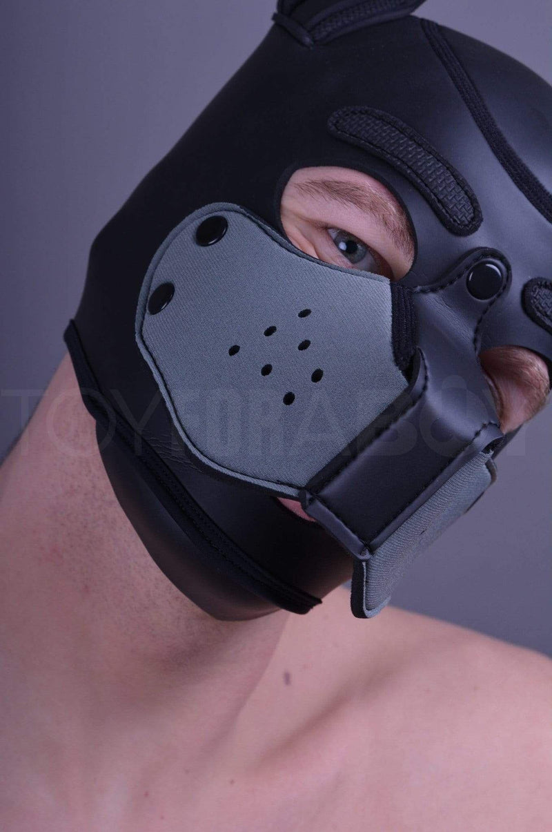 Neoprene Muzzle for Puppy Hood - Grey - TOY FOR A BOY
