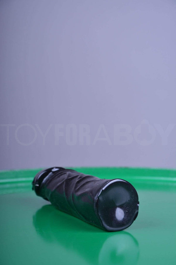 Dildo No Balls - Black - 18cm (7 inch) - TOY FOR A BOY