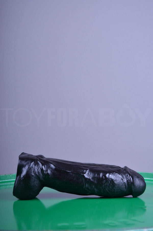 Dildo Thick With Balls - Black - 21.5cm (8.5 inch) - TOY FOR A BOY