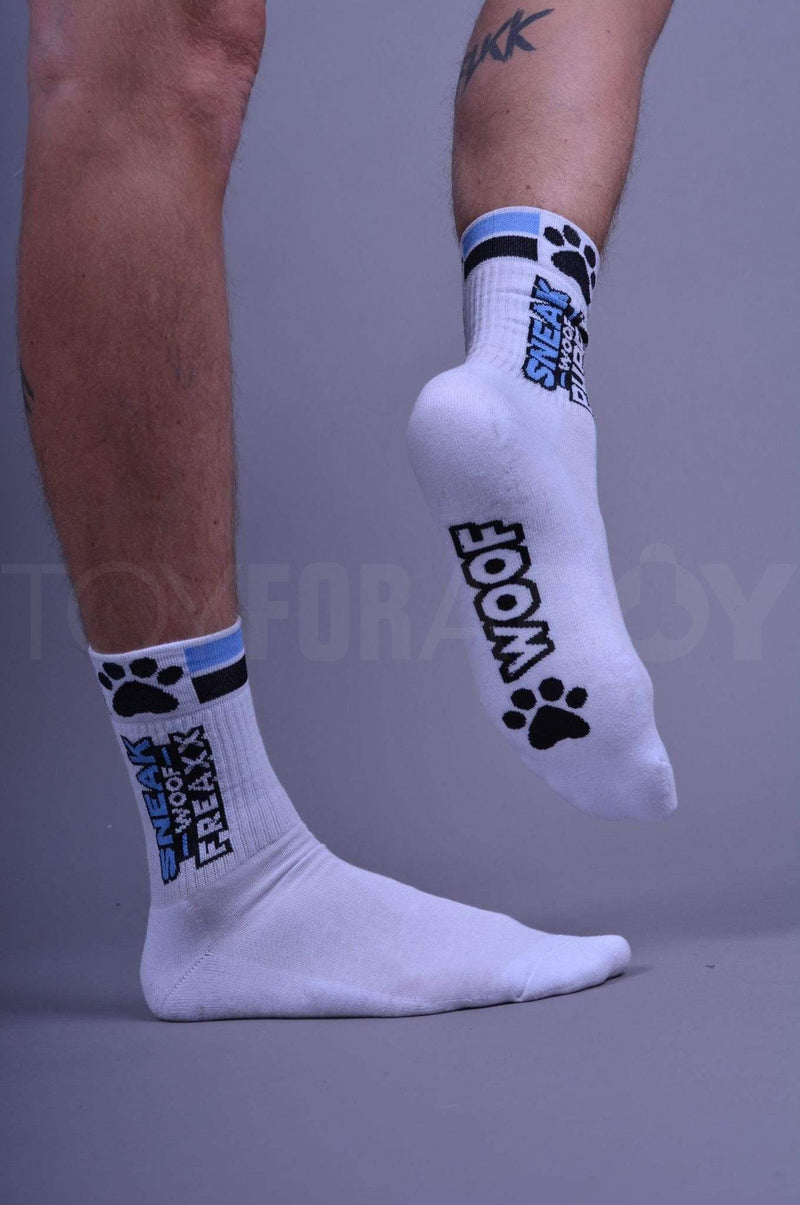 SNEAKFREAXX Puppy Socks - Blue - TOY FOR A BOY