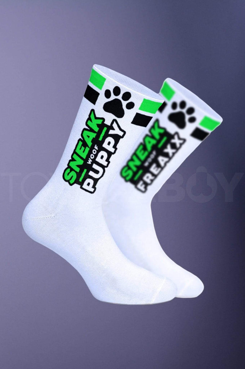 SNEAKFREAXX Puppy Socks - Green - TOY FOR A BOY
