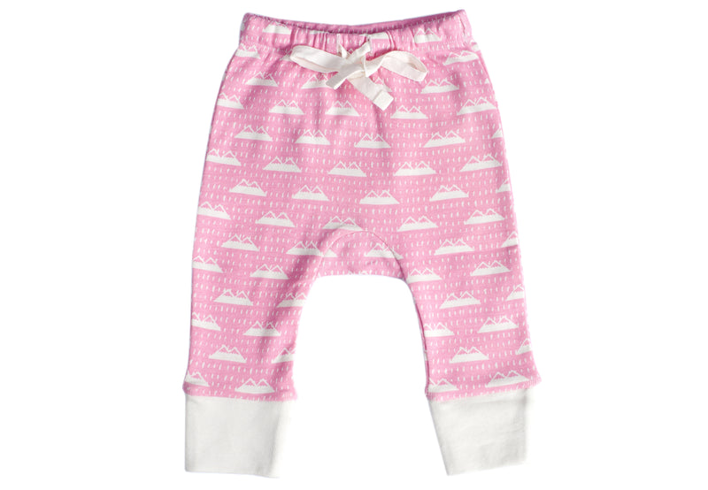 Organic Cotton Baby Pants- Mountain Range