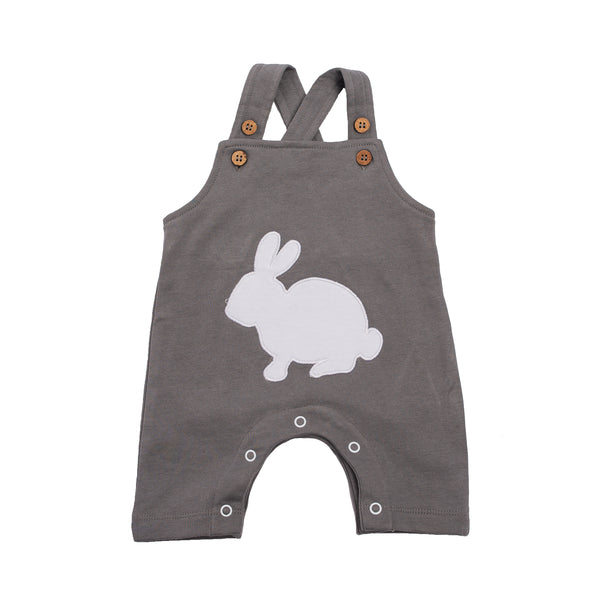 Organic  Cotton Baby Overalls- Bunny