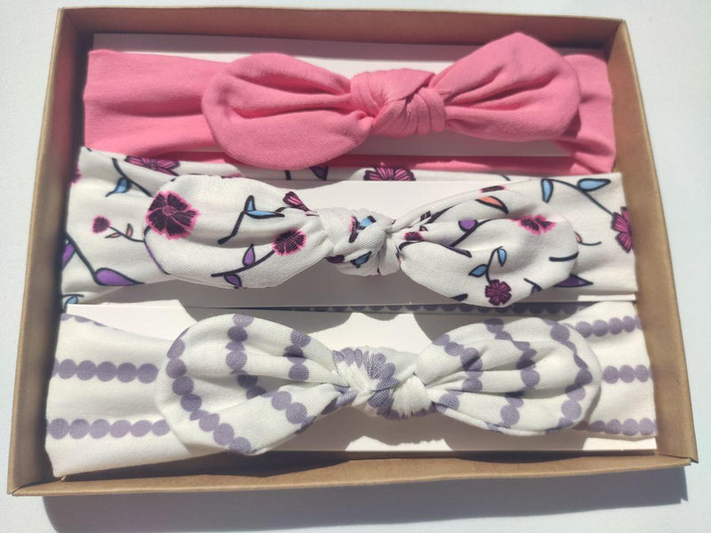 Baby Bow Headband- Springtime Purple