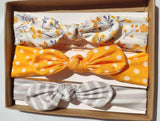 Baby Bow Headband 3pk- Sunshine Yellow