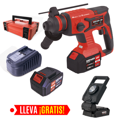 ROTOMARTILLO SDS PLUS + LÁMPARA LED GRATIS