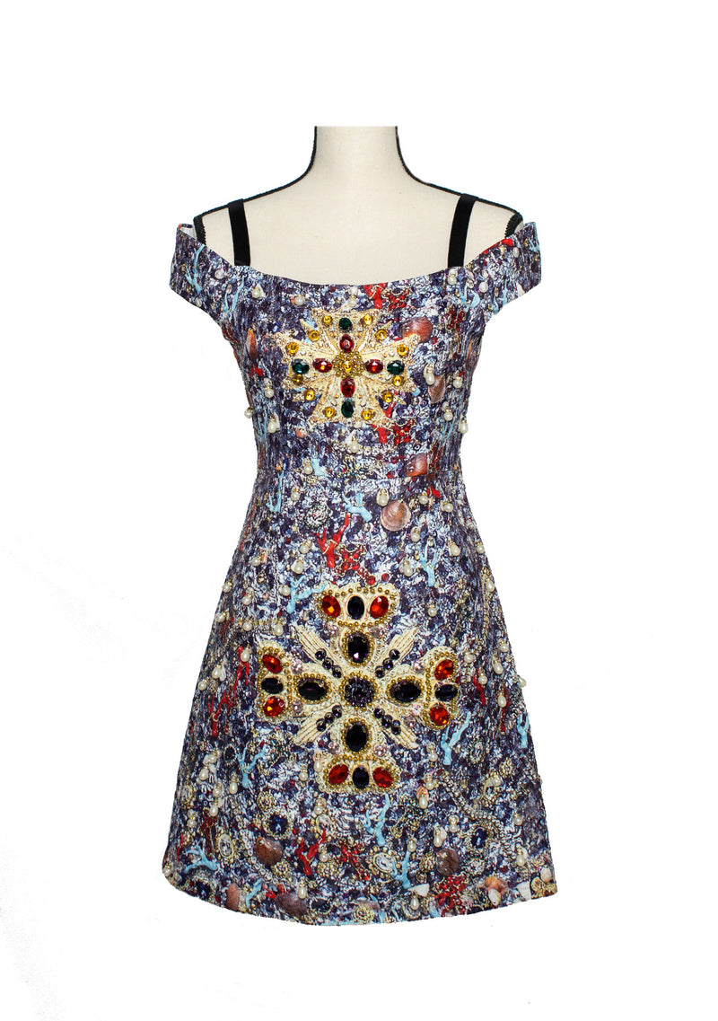 The 'Bejeweled' Printed Dress