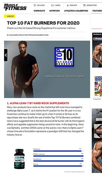 Muscle & Fitness Top 10 Fat Burners for 2020