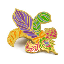 Load image into Gallery viewer, Feathers Fleur de Lis Pin