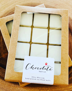 CHOCOLATE DIPPED | 12 BLOSSOM MELTS IN KRAFT BOX