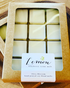 LEMON BLUEBERRY SCONE  | 12 BLOSSOM MELTS IN KRAFT BOX