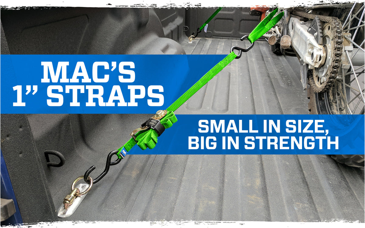 Mac's 1″ Tie-Down Straps vs. The Competition