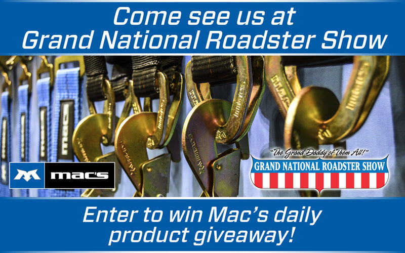 Visit Mac's at Grand National Roadster Show & Enter To Win!