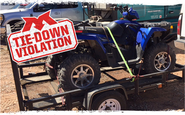 Mac's Tie-Down Violation: Polaris ATV