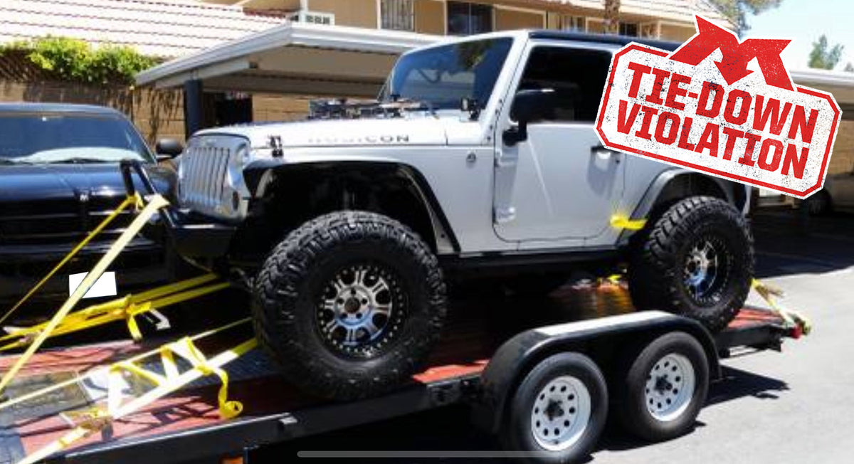 Tie-Down Violation – Jeep