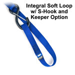 Choose the S-Hook with Keeper for attaching to structural components and still have the option of a captive hook.