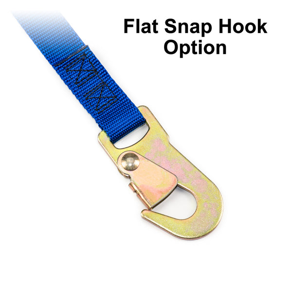 Flat Snap Hook Tie-Down Strap End Option