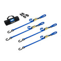 Motorcycle Tie Down Strap Pack with Integrated Soft Loops w/ Ratchet