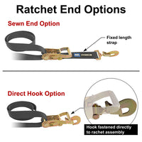 Direct Hook vs Sewn Ratchet End