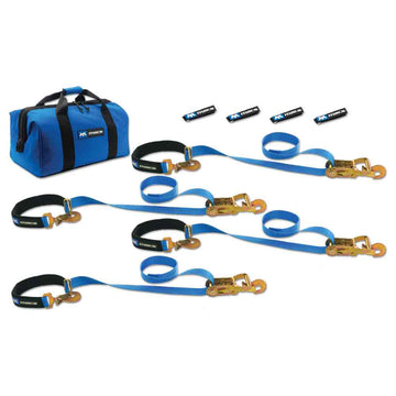 Super Pack Tie Down Kit with Integrated Axle Straps