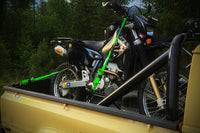 Grab and Go Pack on bike in truck bed