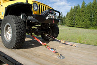 Jeep with Super Pack Tie Downs - Axle View
