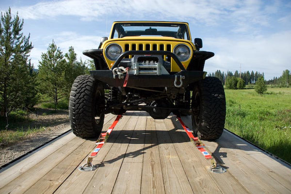 Jeep with Super Pack Tie Downs - Front View
