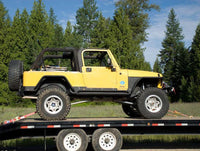 Jeep with Super Pack Tie Downs - Side View