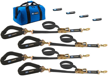 Pro Pack Premium Tie Down Strap Kit with Sewn Fixed End