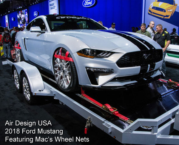 Wheel nets on Ford Mustang