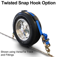 Twisted snap hook option - ratchet end