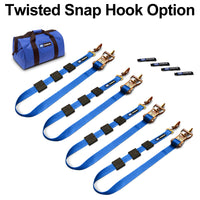 Tire Block Strap Pack - Twisted Snap Hook Option