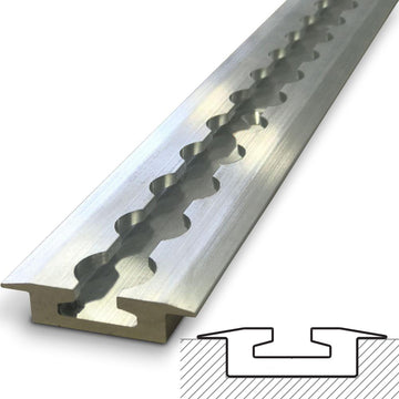 VersaTie Aluminum Track - Recess Mount, Flanged (Series 4)