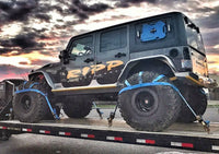 Tire nets on black jeep