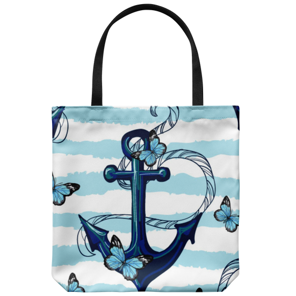 Miami Blue Butterfly Tote Bag