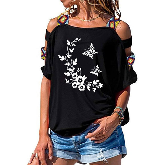 Butterfly flowers Loose T-shirts