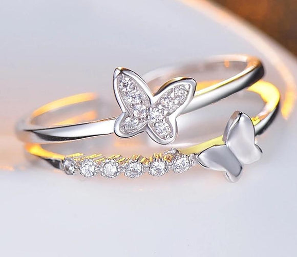 Luxury Butterfly Ring