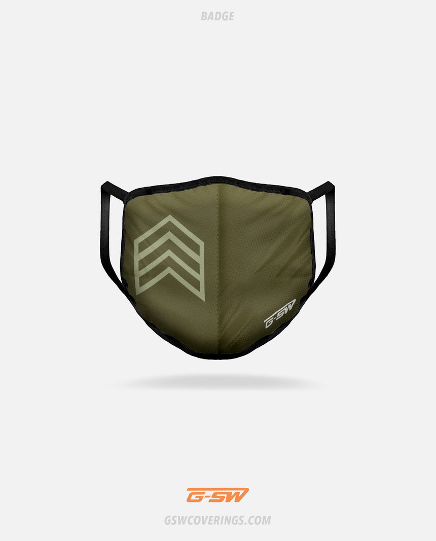 The Badge Mask, part of the Battlefield Mask 3-Pack - GSW Ready-Made Face Covering Bundle