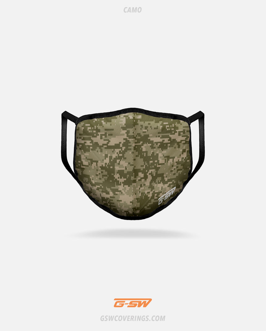 The Camo Mask, part of the Battlefield Mask 3-Pack - GSW Ready-Made Face Covering Bundle