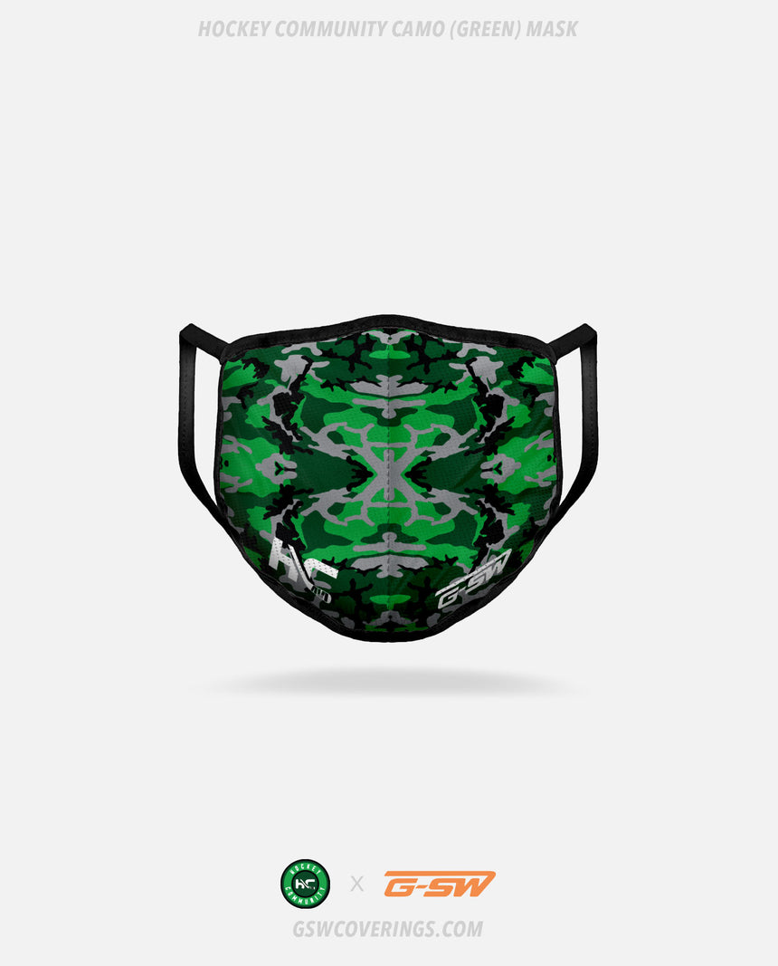Hockey Community Camo (Green) Mask