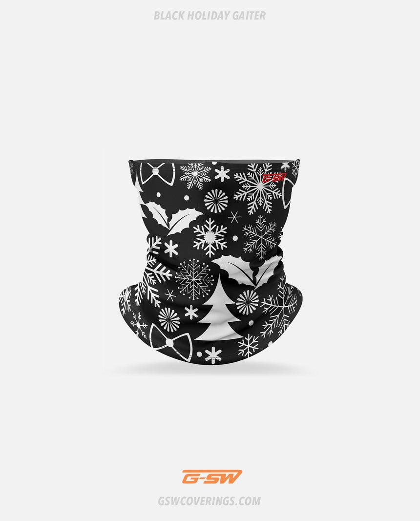 Holiday Neck Gaiter (Black) - GSW Ready-Made Face Covering - Christmas Collection